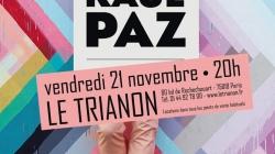 Raul Paz en concert à Paris le 21 Novembre